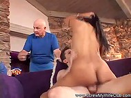 Man brought stacked wife to experienced fucker and watched how to make real love 8