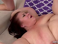 BBW wants to feel desired by two partners that show what double penetration means 6