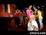 Bride with her friends enjoy strippers' dicks that make girls super excited at the hen-party 5