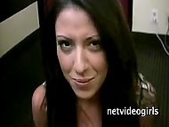 Young brunette came to be interviewed for potential job and was caught in porn agent's trap 4