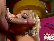 Honey with deep throat oiled immense jugs before thick dick entered pink pussy 4