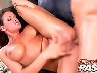 Legendary Tory Lane licked pumped muscles of the partner and presented him both warm holes 10