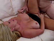 Tattooed husband forgot about apartment repair because he was busy with fucking busty spouse 7