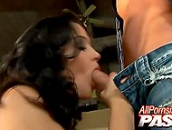 Famous porn actress Lisa Ann got hairless partner with giant penis for recording movie 4