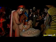 King Arthur fucks Wonder woman whose girlfriends give a head nearby at Halloween party 5