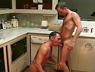Good food and anal sex are common fancies of two homosexuals fucking in kitchen 5