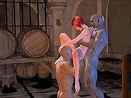 There is a lot of wine in the cellar but two ogres are interested in red-haired whore's holes only 7