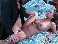 Bald man used saliva as lubricant and inserted long fuckstick in bombshell Priya Rai's vagina 3