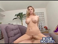 Big-boobied Kayla Quinn had just to ask for firm dick and such a one appeared immediately