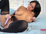 Fiery Latina Faustine Lee masturbates dreaming not of prince on white horse but of riding huge boner 8