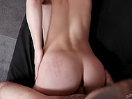Big-tittied beauty with collar takes pleasure in rough sex with skilled fellow only 7