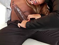 Bruiser's black shaft looked immense but voluptuous blonde was push it in the asshole to the full 3