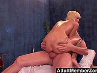 Stunning hot blonde couldn't even imagine that older masseur would cum inside bald ginch 8