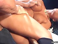 Muscled captain boned groomed vagina of big-boobied goddess Eva Angelina on the ship 8