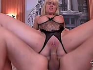 Blonde Latina takes part in casting and has sex with operator for the sake of her career 8