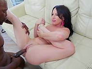 Huge ramrod of famous black porn actor visited Jennifer White's neat vagina so she could be proud of it 8