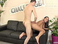 Indecisive skinny man fucks long-haired babe that helps him with his actions 9