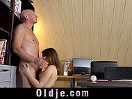 Young student gets ready to fuck her old teacher that makes her wishes come true 4