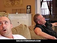 Гламурные цыпы отдались своим приёмным отцам, чтобы те позволили им пойти на вечеринку 3