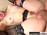 Creamy-skinned girl enjoys anal sex and licks cum off overexcited dick 6