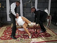 Before walking down the aisle, Asian bride Asa Akira was fervently owned by two black guys 4