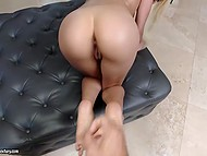 Buddy came to parlor not to get massage but to have sex with white-haired Latina Elizabeth Jolie 11