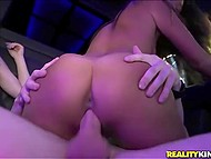 Delectable Asian teen got poked by youngster with tight cheekbones in the limo for some cash 8