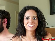Dissolute chick at casting turned her easy fantasies into reality with a bearded man 10