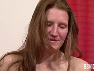 Woman is looking energizing and comes to casting to try herself as a porn actress 11