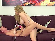 Big-boobied Aiden Starr uses strapon to nail red-haired girlfriend Ashley Graham live 11
