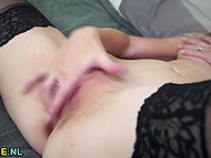 Loneliness wasn't an obstacle for sexy dame that's why she took dildo and had fun 7