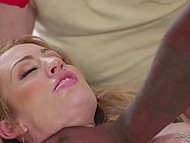 Bearded cuckold wasn't good in bed so unsatisfied wife made some noise with black lady killer 9