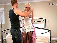 Hungarian Alexa B serves as a sex doll for man who carries her in the bag and fucks when he wants 4