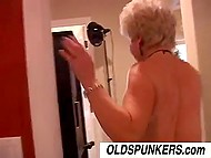 It was guy's turn to pleasure salacious old madam and he didn't drop a clanger 7