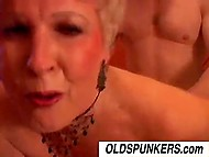 It was guy's turn to pleasure salacious old madam and he didn't drop a clanger 9