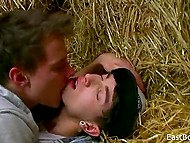 Fragile twinks make gentle oral love in the soft hayloft where nobody can see them 4