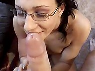 In the German scene cheerful honey showed man what she could do using deep throat 11