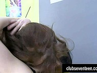 Several kisses were needed for coquettish girls before fingering shaved pussies 5