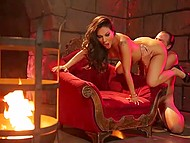 Nobleman nailed unmatched Asian Asa Akira and ejaculated on feet in the fortress 4