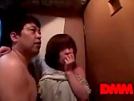 Man had fucked Asian MILF's quickly in the toilet before they came back to friends 6