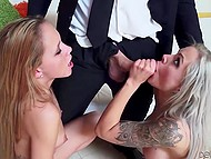 Fragile chick made guy excited but hot penis went in buxom MILF's smooth vagina 10