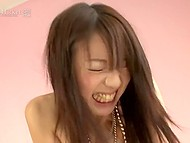 Lustful guy took off young Japanese babe's clothes and made hairy twat feel good 7