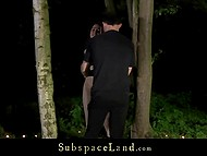 Old debauchee thoroughly spanked fragile colleen then fucked hard in the forest 4