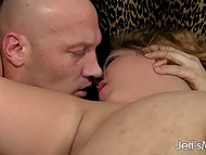 Bald lovelace doesn't give depraved BBW in sexy lingerie a chance to relax during wild fuck 6