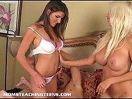 Young housemaid is taught how to fuck good by astounding goddess Puma Swede 6