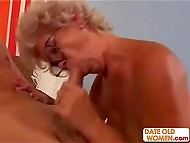 White-headed old woman enjoyed dildo in vagina but youngster's cock brought her much more pleasure 9