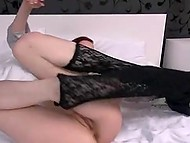 Fiery-red girl from Poland stretches her pussy with speculum and rubs clitoris with vibrator 3
