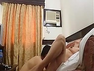 Mature couple from Philippines sets amateur camera in small room to record their fucking act 7