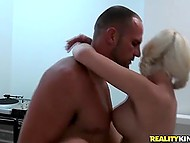 Short-haired chap was shagging babe with pigtails while stacked Latina was sticking around 8