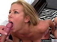 MILF also wants to have fun with cock of her stepdaughter's boyfriend so they give him blowjob together 11